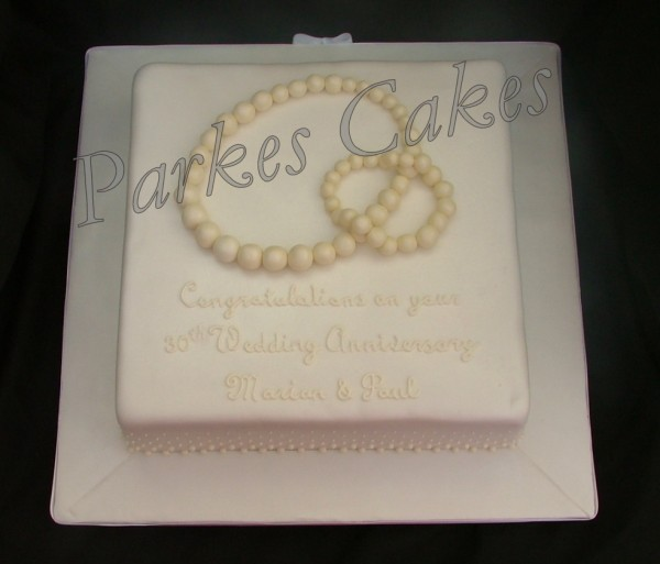 Cake Ideas For Pearl Wedding Anniversary : Pearl Wedding Anniversary Cake