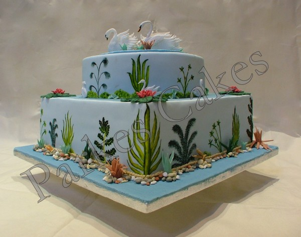 Swan Lake Anniversary Cake