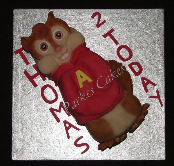 alvin and the chipmunks birthday cake
