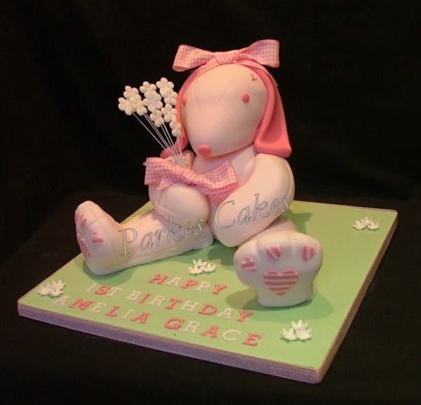 3d cute bunny rabbit cake