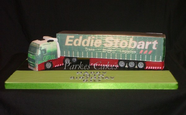 eddie stobart lorry birthday cake