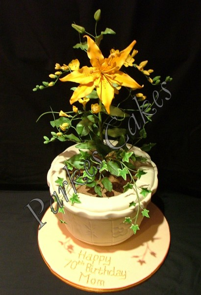 garden planter birthday cake