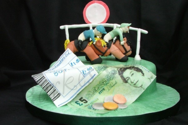 Horse Racing Birthday Cake