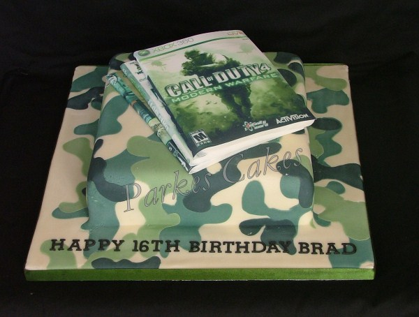 modern warfare call of duty birthday cake