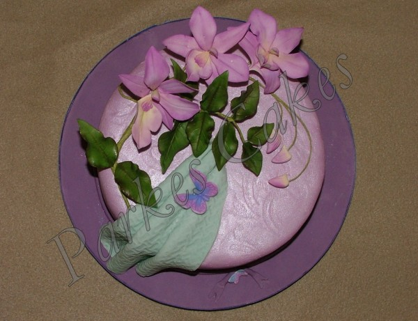 singapore orchid birthday cake