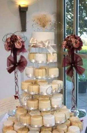 Coffee & Cream Mini Wedding Cake Tower