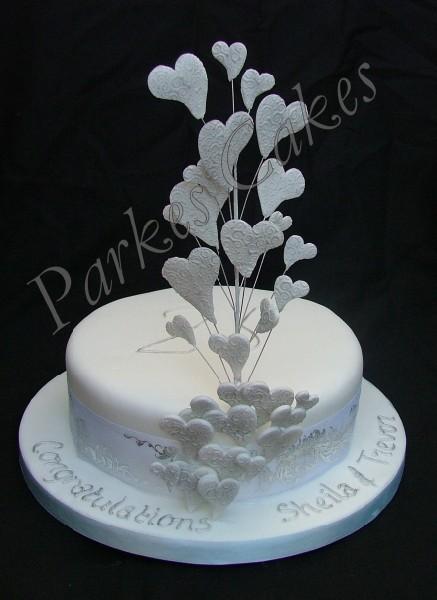 Cake Designs For Silver Jubilee : Wedding Anniversary Christening Cake Gallery