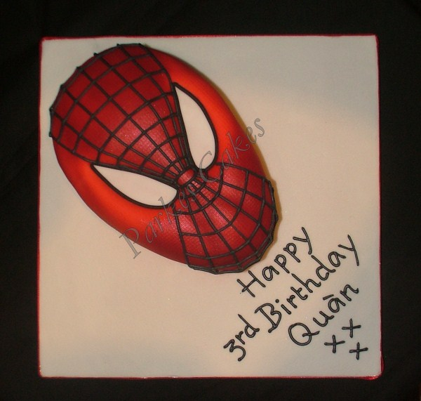 spiderman mask birthday cake