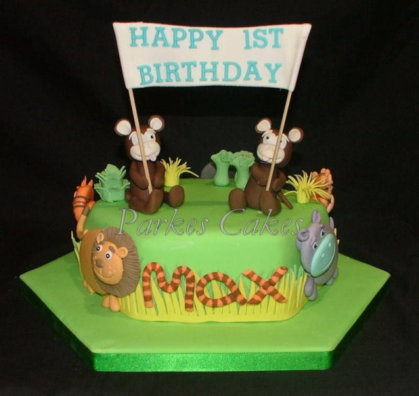 cheeky monkeys jungle birthday cake