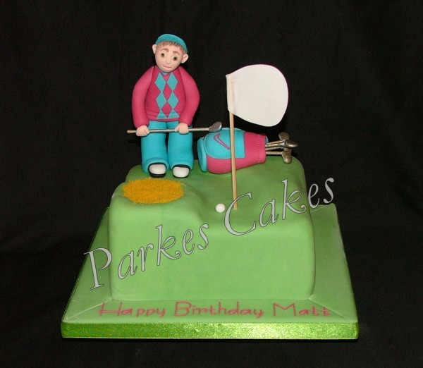 golfers birthday cake