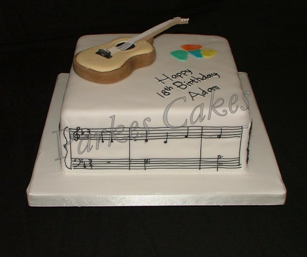 Guitar Players Birthday Cake