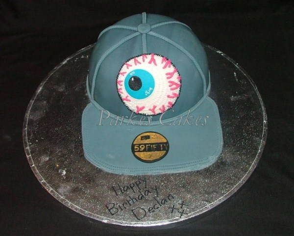 new era eye baseball cap birthday cake